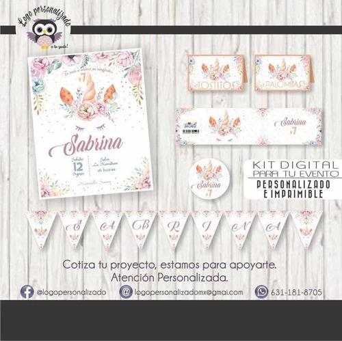 kit digital - evento unicornio - invitacion
