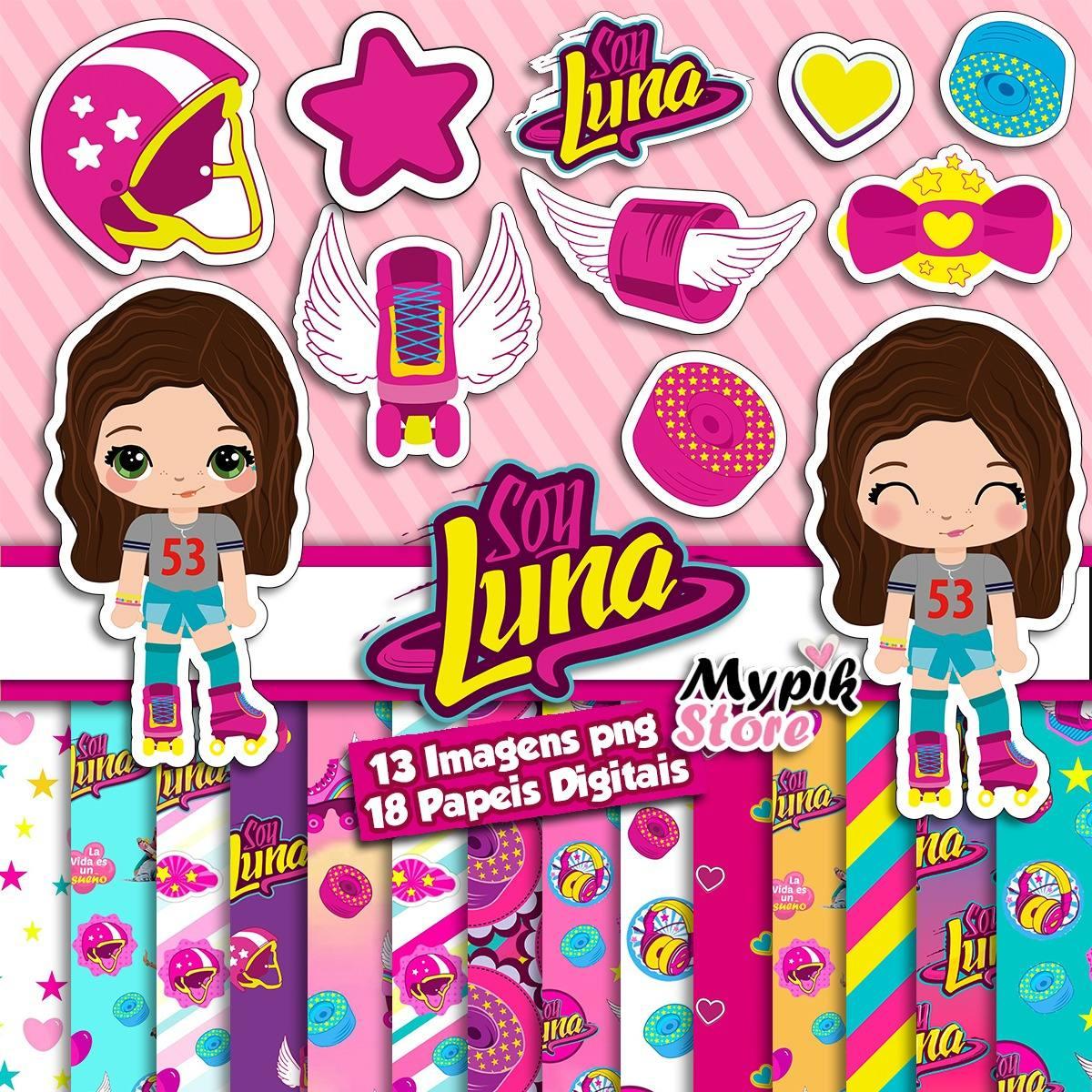 Kit Digital Imagens Soy Luna Scrapbook R 9 99 Em Mercado Livre