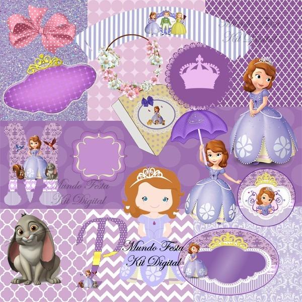 kit digital princesa sofia sophia mais de 160 imagens r 14 90 em
