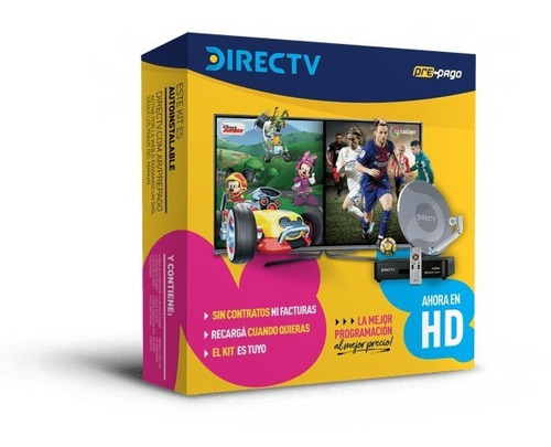 kit directv prepago hd de 46 cm tv satelital autoinstalable