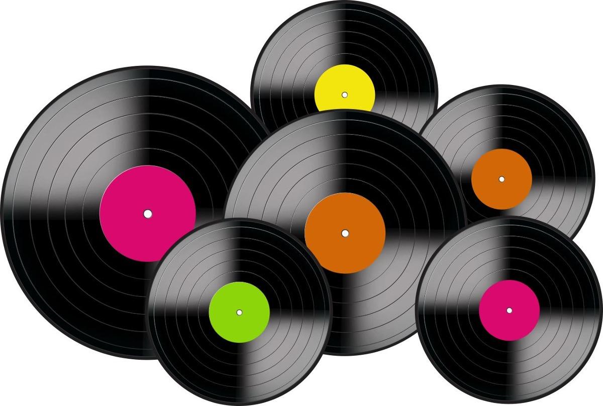 Kit Disco De Vinil Pequeno 06 Unidades R$ 6,99 em Mercado Livre -> Decorar Com Discos De Vinil