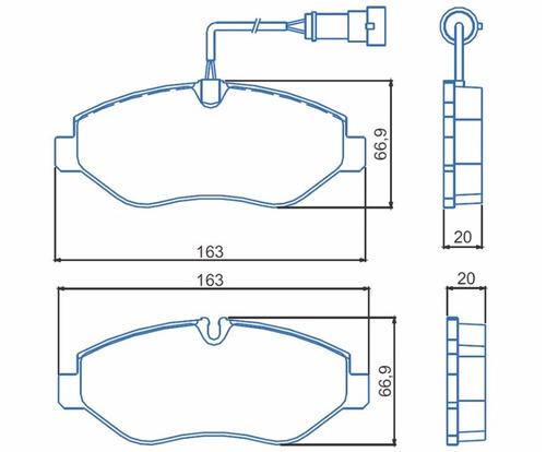 kit disco+pastilha  dianteiro iveco daily 35s14 e outros