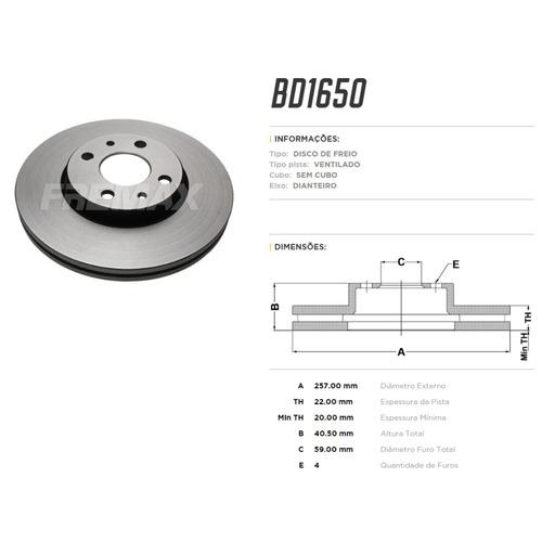 kit disco + pastilha freio fiat punto sporting 1.8 16v 2014