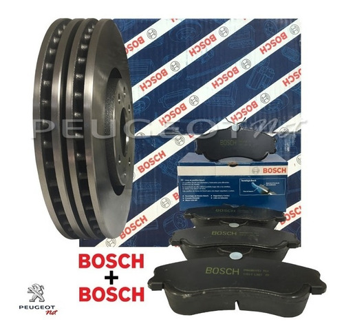 kit discos freno del + pastillas bosch 207 compact  1.4 8v n