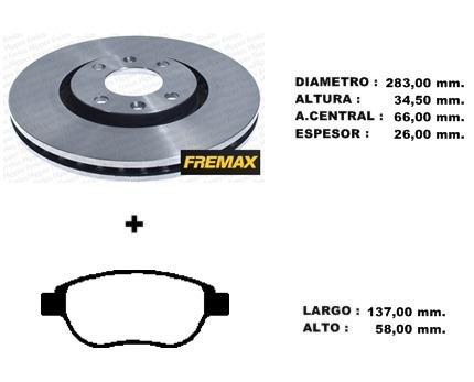 kit discos + pastillas de freno peugeot 307