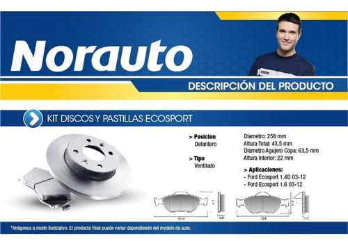 kit discos y pastillas fremax ecosport-vent-k18