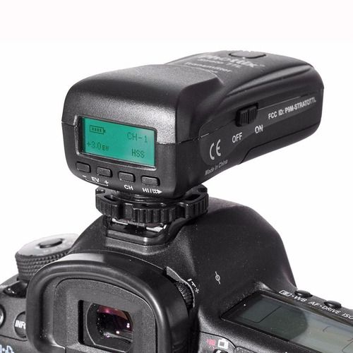 kit disparador radio flash phottix strato ttl p/ canon ettl