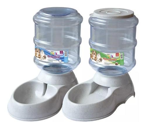 kit  dispensador ch agua y croqueta automáticos perro gato