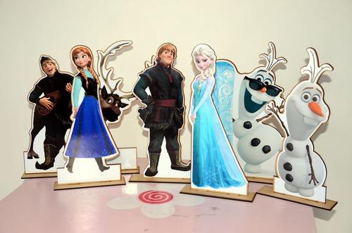 kit display de mesa frozen com 6 peças personalizado