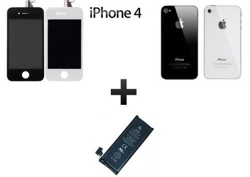 kit display +tampa traseira  + bateria iphone  4g/4s