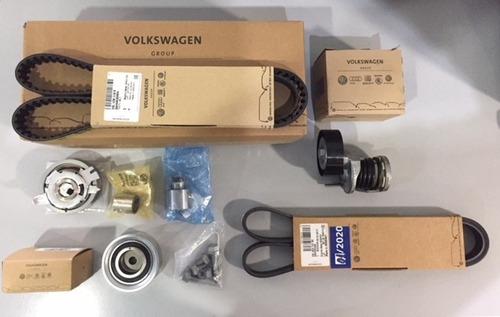 kit distribucion + correa poli-v + tensor  volkswagen amarok