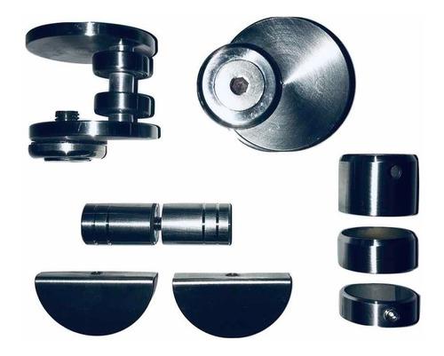 kit división de baño en acero inoxidable para vidrio templad