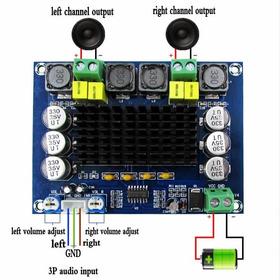 Kit Diy Caixa Tweeter Alto Falante Amplificador Bluetooth