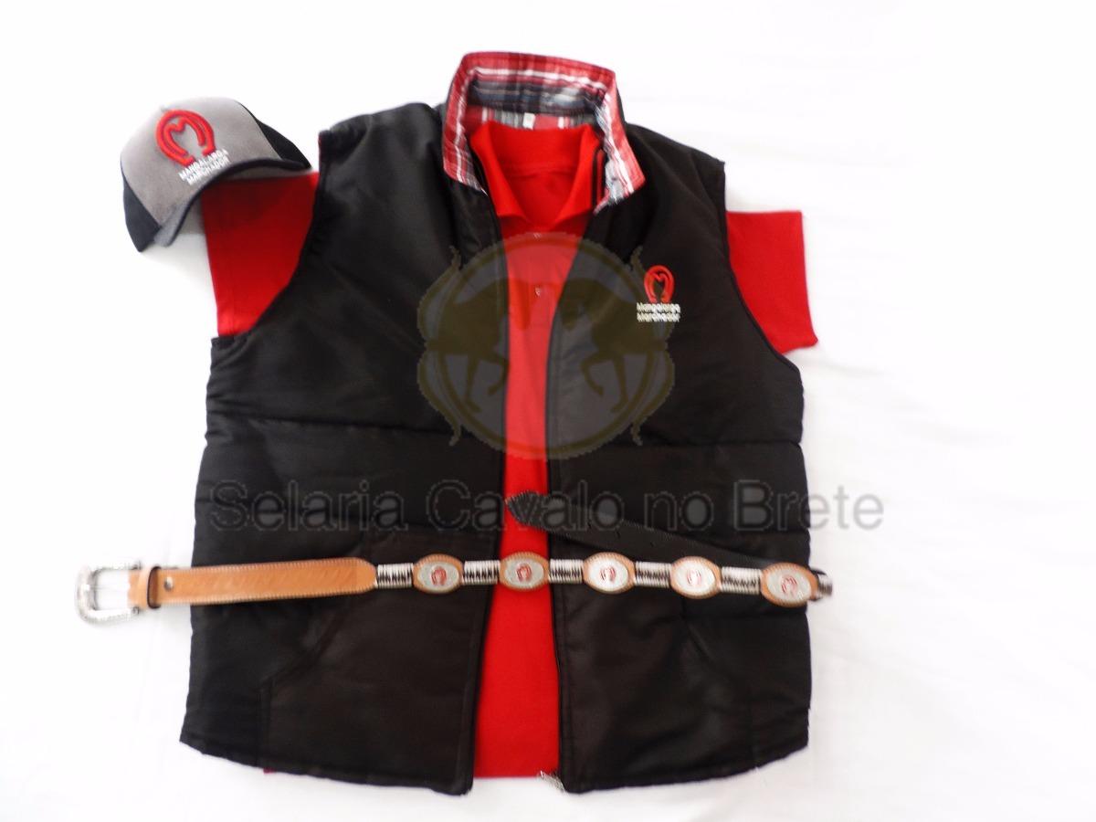 b04f132b70 Kit Do Mangalarga Peao Colete Camisa Cinto E Boné Oferta - R  298