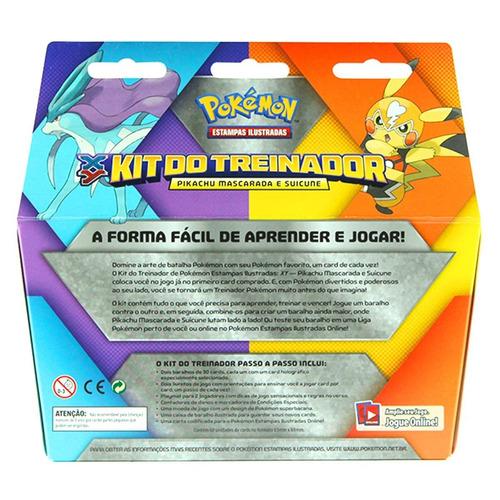 kit do treinador pikachu mascarada e saicune cards game