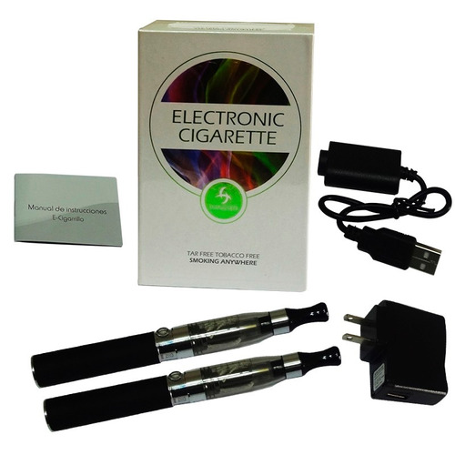 kit doble de cigarro electrónico - marca hangsen - negro