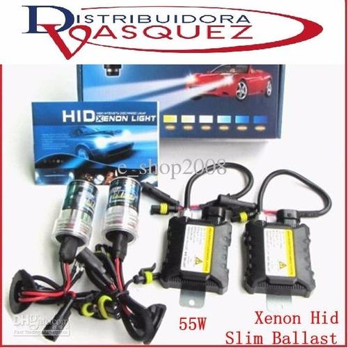 kit doble de luces xenón  h3 h4 h7 6000k + balastros oferta