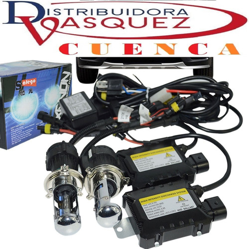 kit doble de luces xenón h4 - h7 6000k - 8000k + balastros