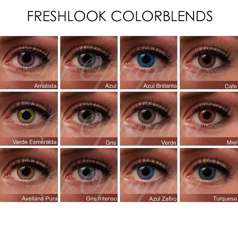 Kit Doble Pupilentes Lentes Contacto Freshlook Colorblends