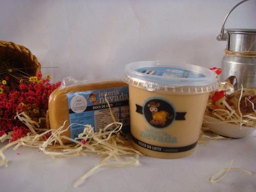 kit doce de leite nevada (em barra e pastoso)