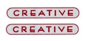 kit dois adesivos creative resinado idea punto fiat + brinde