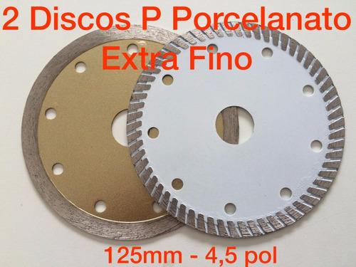 kit dois discos p/ porcelanato extra fino 125mm