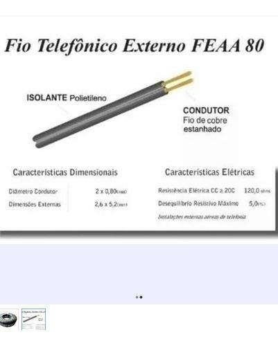 kit dois rolo de fio externo de telefone -fe aa 80 pea 500m