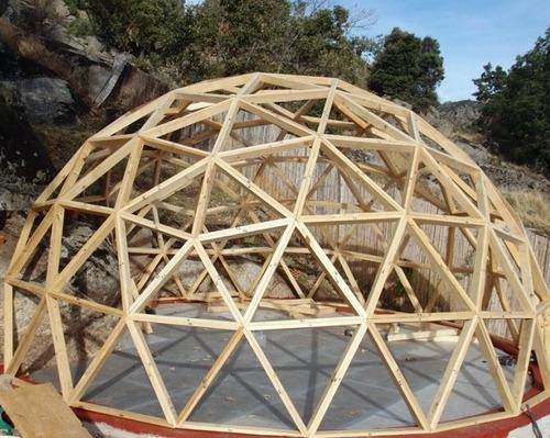 kit domo geodésico autoconstrucción