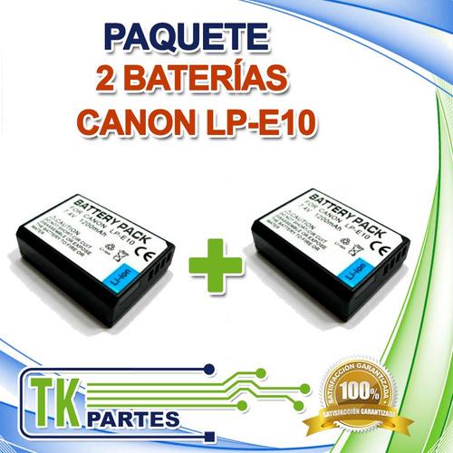 kit dos baterías canon lp-e10 eos rebel t3 t6