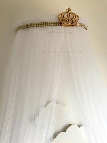 kit dossel parede com mosquiteiro bebê unissex