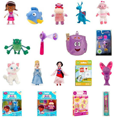 kit doutora brinquedo disney + brinquedos div. black friday