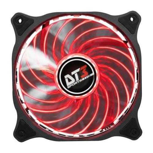 kit dt3 rgb - fan hd120 duo - 3 cooler rgb + 1 fita led rgb