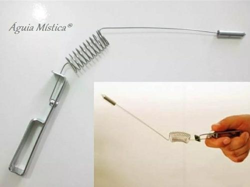 kit dualrod + aurameter cromado pendulo egipio radiestesia
