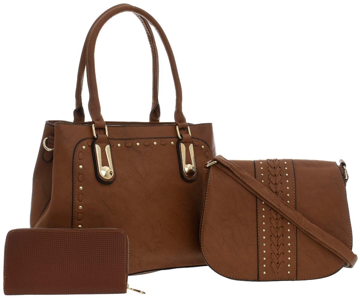 331fea3ae kit duas bolsas feminina com carteira couro pu oferta linda. Carregando zoom .