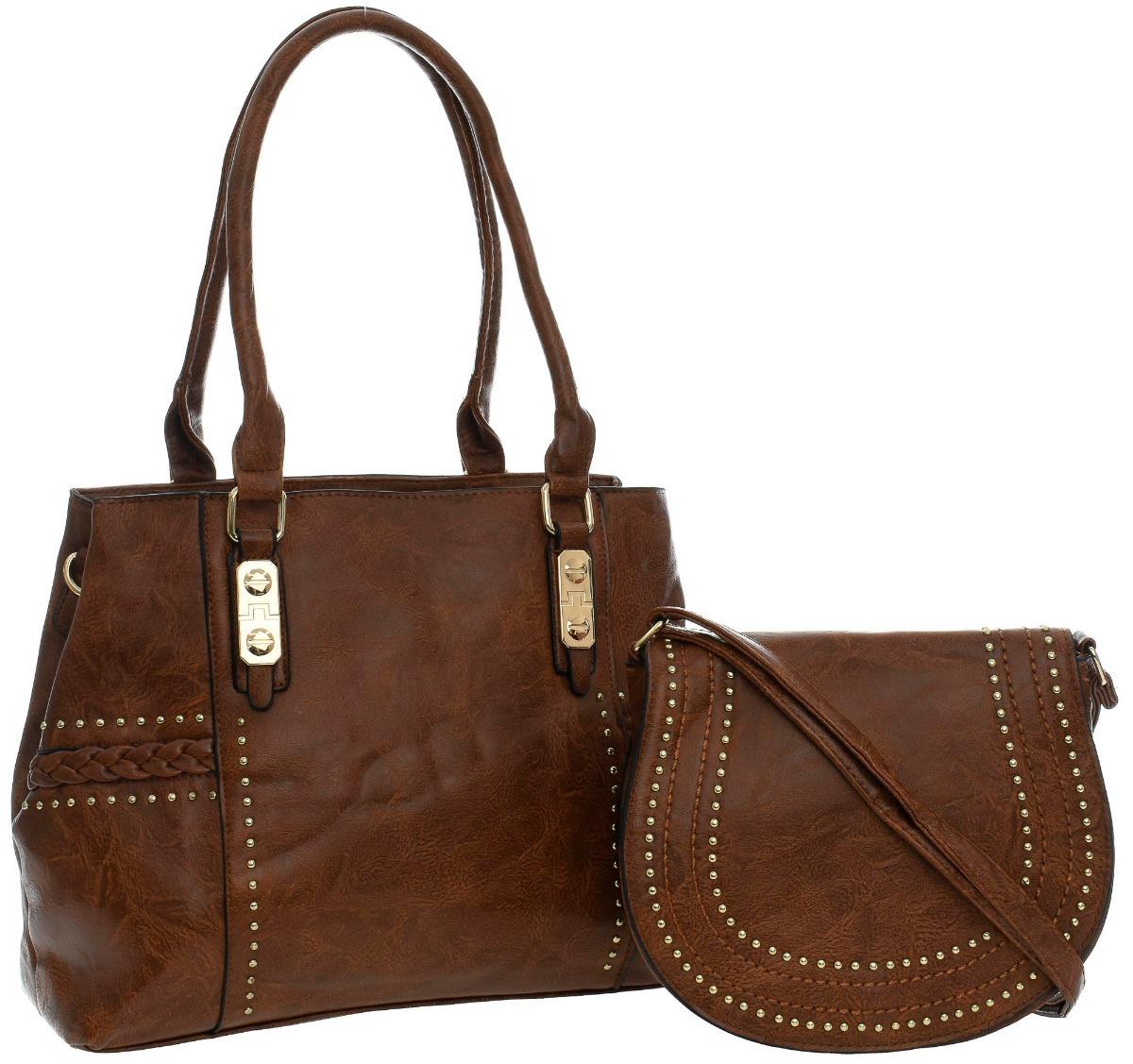 bbd7ebe54 kit duas bolsas feminina moda qualidade promoção couro pu. Carregando zoom.