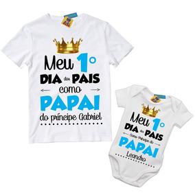 5318cdf0114cb4 Kit Duas Camisetas Tal Pai Tal Filho Dia Dos Pais Com Nome