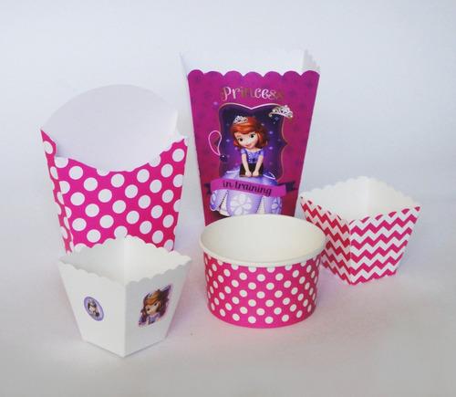 kit dulceros princesa sofía disney mesa dulces palomitas