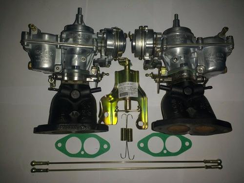 kit dupla carburação fusca kombi puma gasolina 1.6 1600