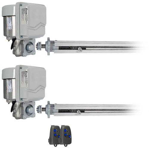 kit duplo motor portão pivotante até 1,5m cada folha peccini