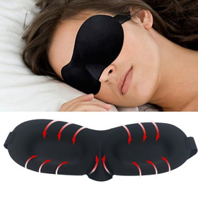 Kit Durma Bem Mascara Para Dormir 3d + Abafador Anti Ruídos