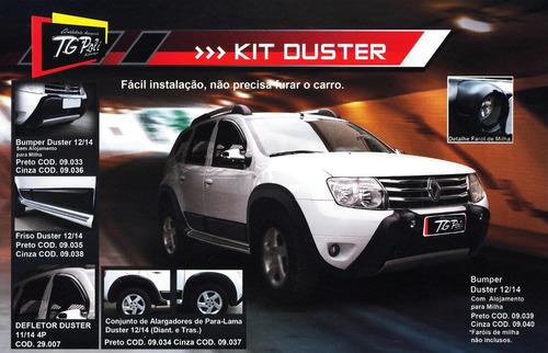 kit duster c/ over bumper alargador kit farol milha mod ant