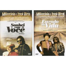 Kit Dvd Milionário E José Rico Estrada Da Vida Sonhei Com Vc