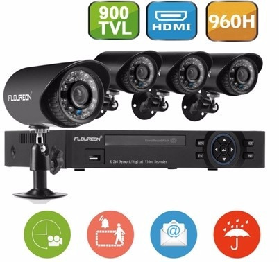 kit dvr 8 canales 960h hdmi dvr 900tvl cctv floureon