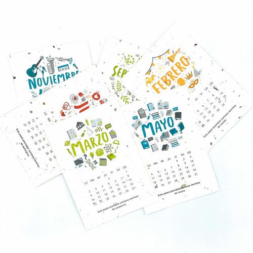 kit eco calendario 2020 plantable - fundación garrahan