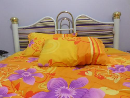 kit edredom casal 2.20 x 2.40m + 2 travesseiros + 2 fronhas