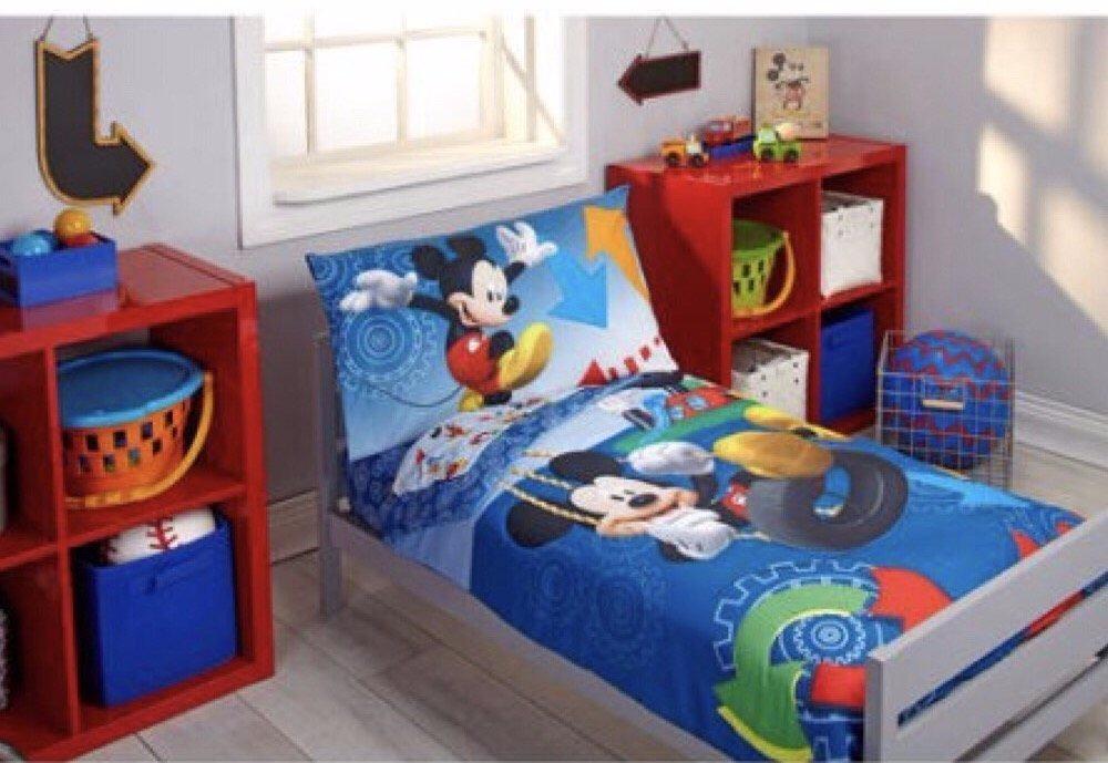 Kit Edredon Sabanas Dos Fundas De Almohada Mickey Mouse
