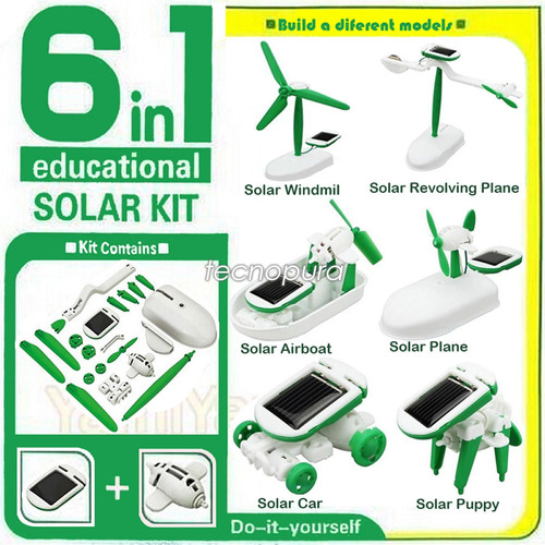 kit educativo energía solar / robot 6 en 1  robótica básica