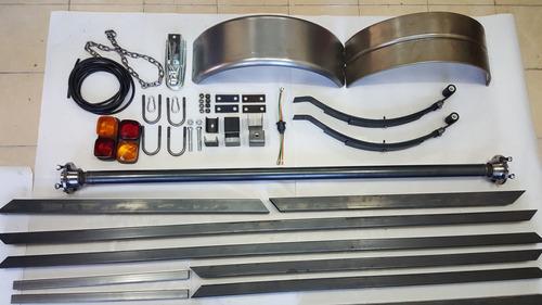 kit eje,elastico, chasis, trailer 650 kg