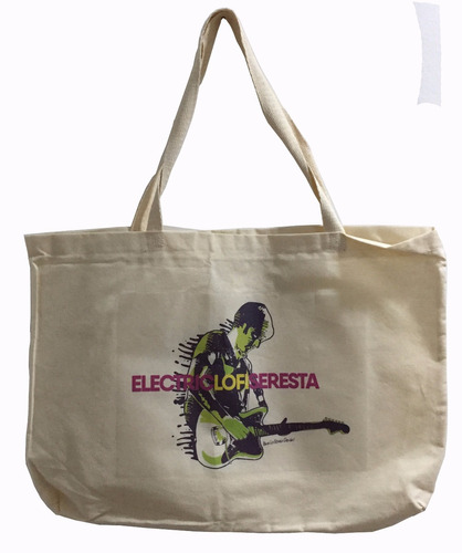 kit electric lo-fi seresta: camiseta + ecobag
