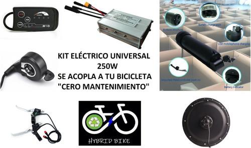kit eléctrico cero mantenimiento 500w/250w cualquier bici